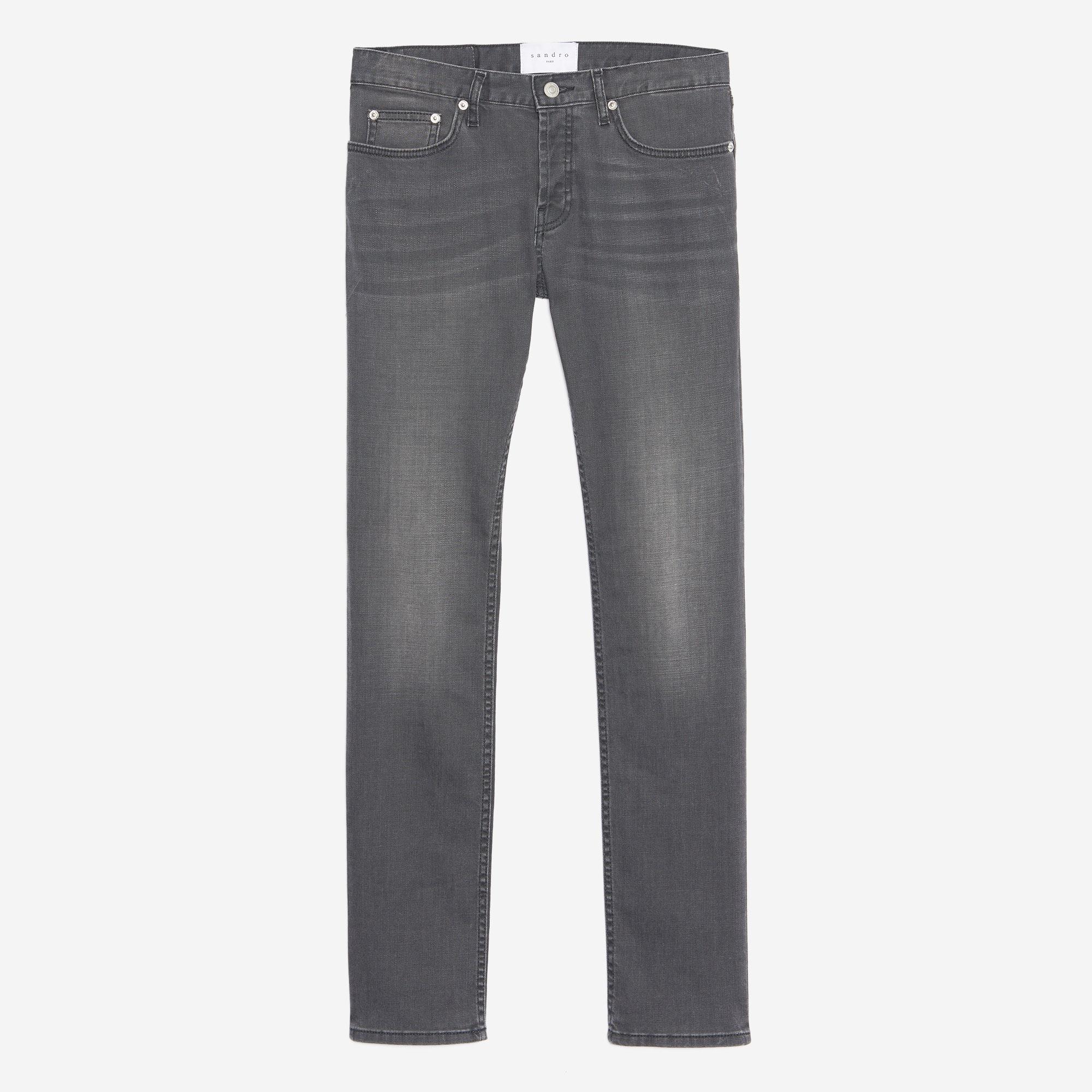 Jeans grey délavé - Slim : Collezione Estiva colore Grigio