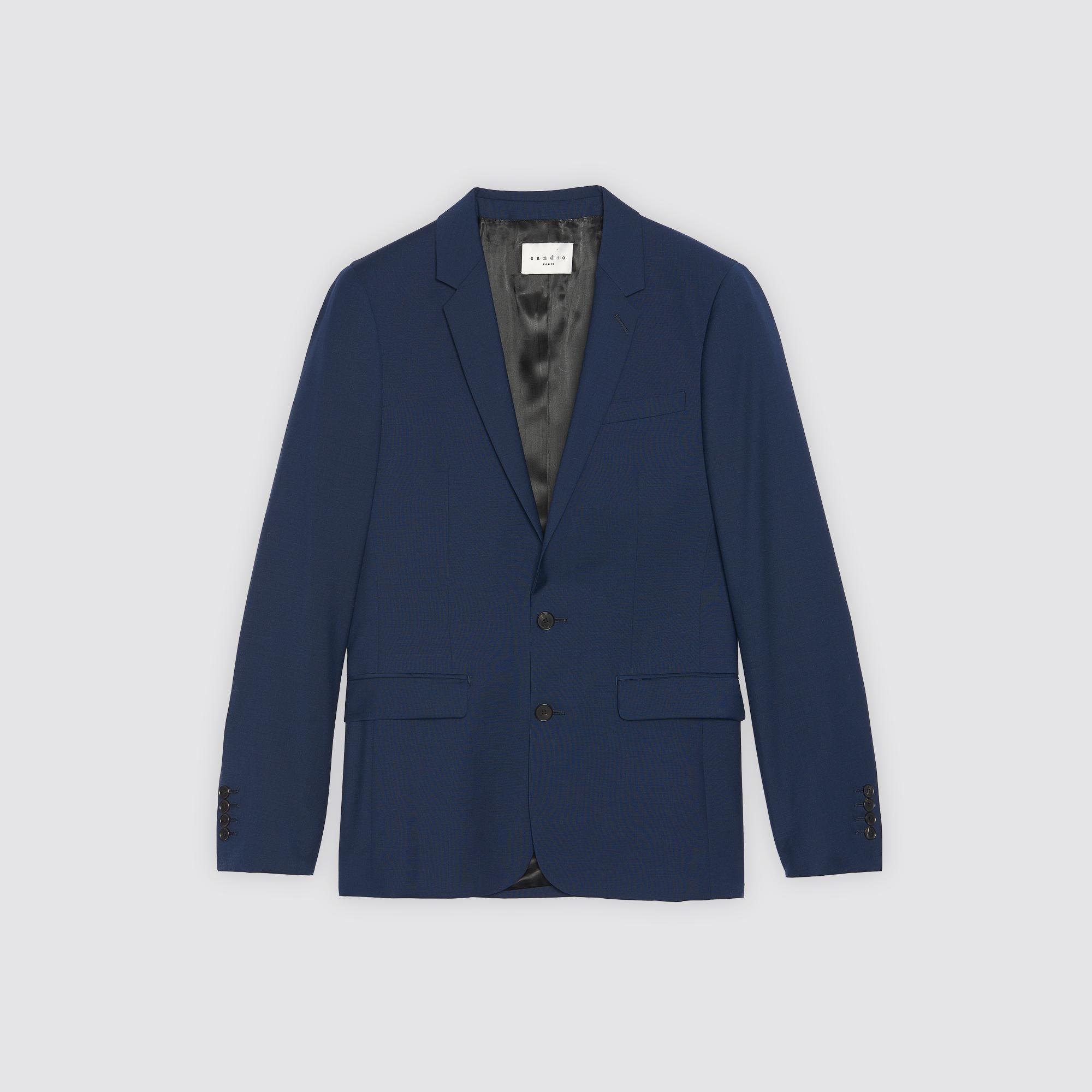 Giacca da completo in lana e mohair : Abiti & Smoking colore Blu