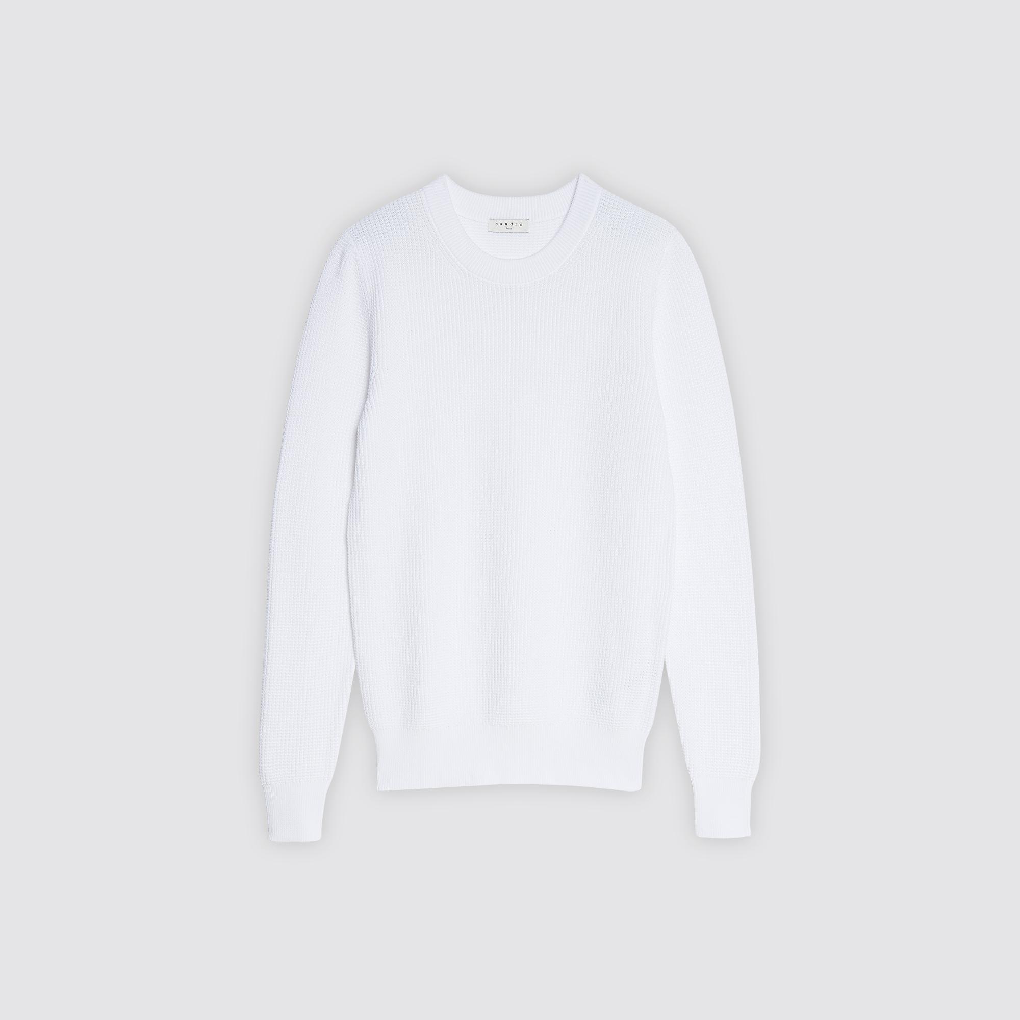 Pullover girocollo a grana di riso : Collezione Estiva colore Bianco
