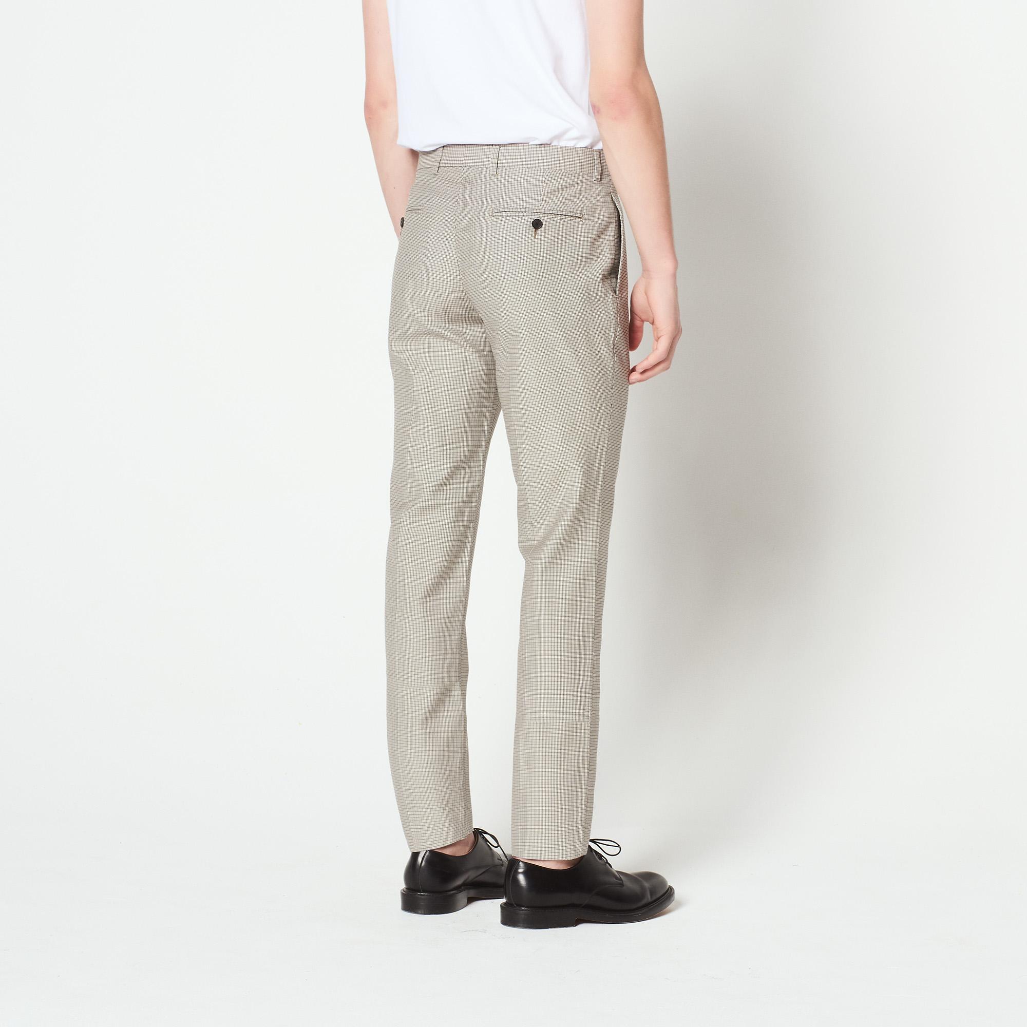 Pantaloni da completo a micro quadri : Abiti & Smoking colore Beige