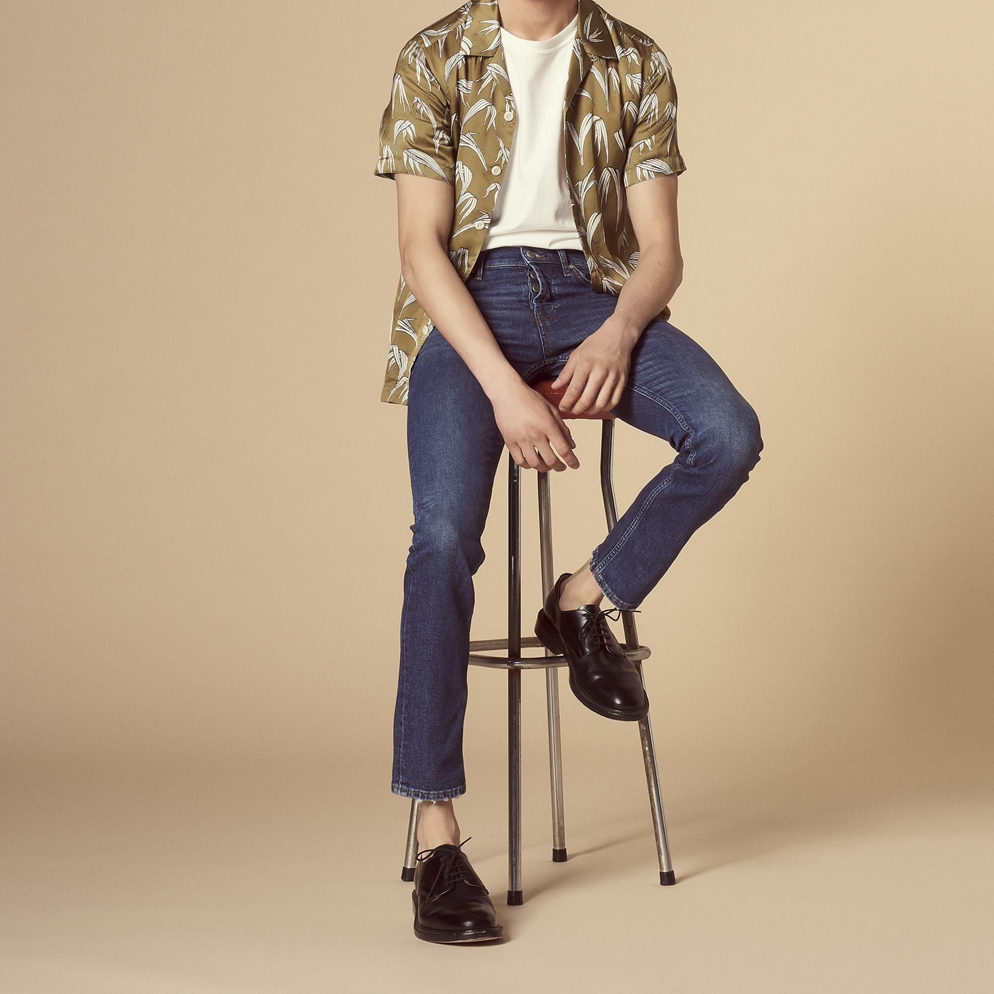 Jeans blu in denim linea dritta : Jeans colore Blue Vintage - Denim