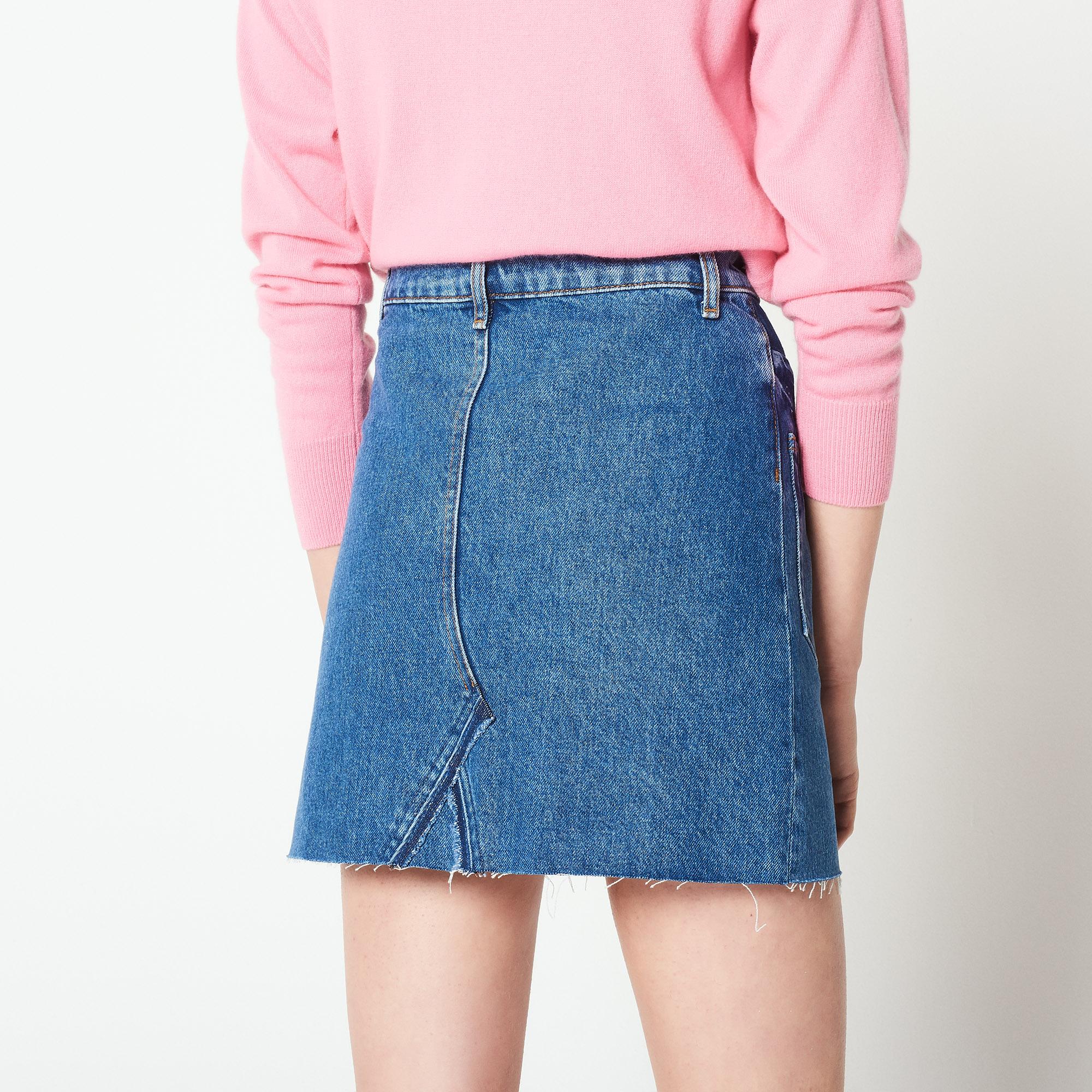 Gonna in jeans con effetto délavé : Collezione Estiva colore Blue Vintage - Denim