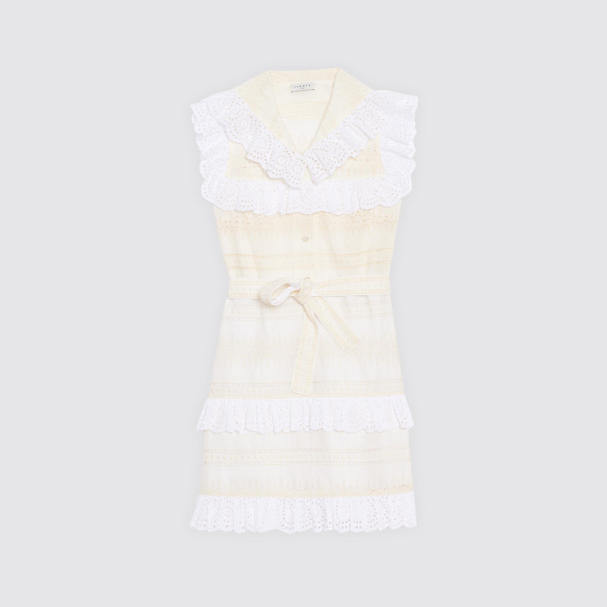 Abito corto stile vintage con cintura : Esclusiva web colore Ecru