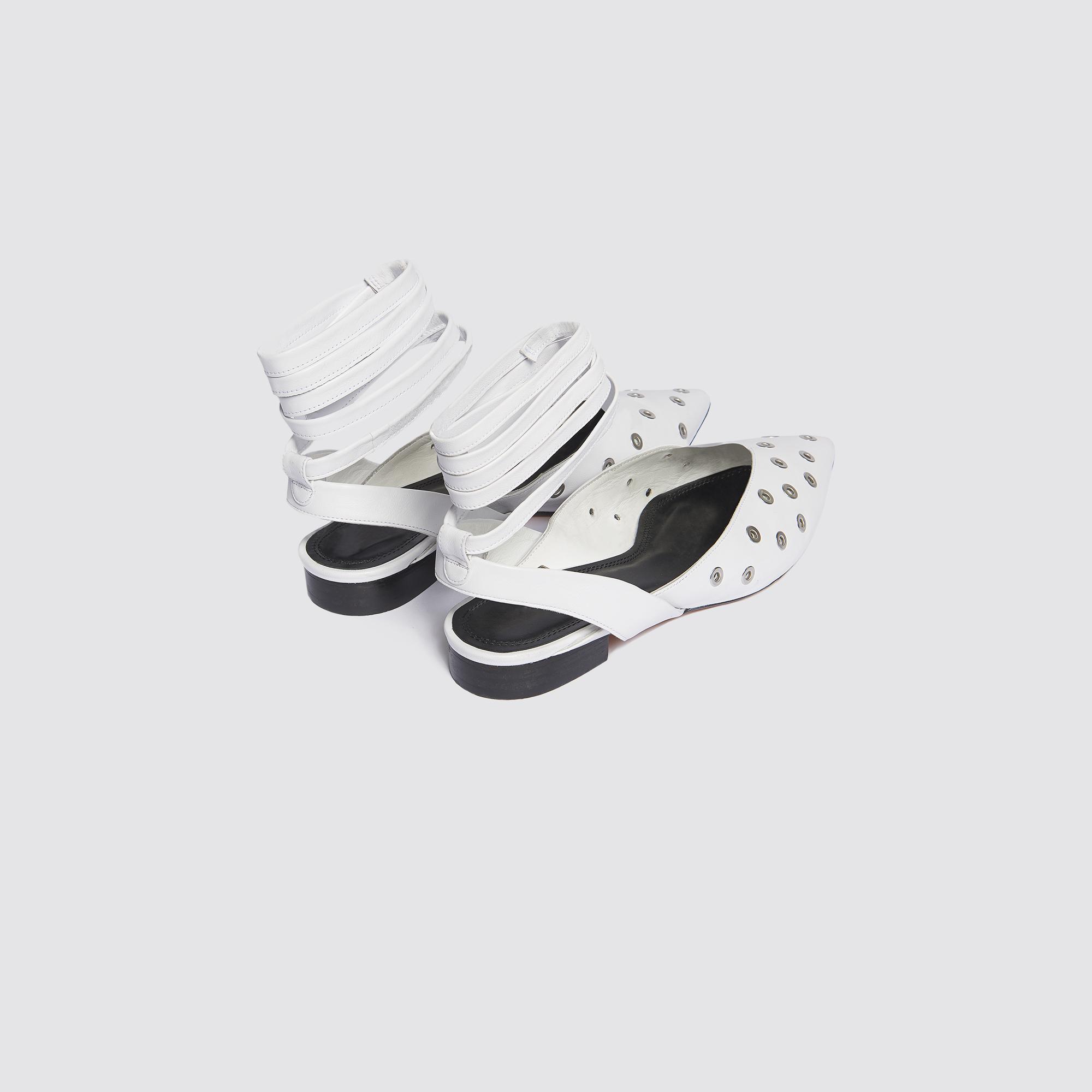 Ballerine a punta con occhielli : Tutte le Scarpe colore Bianco