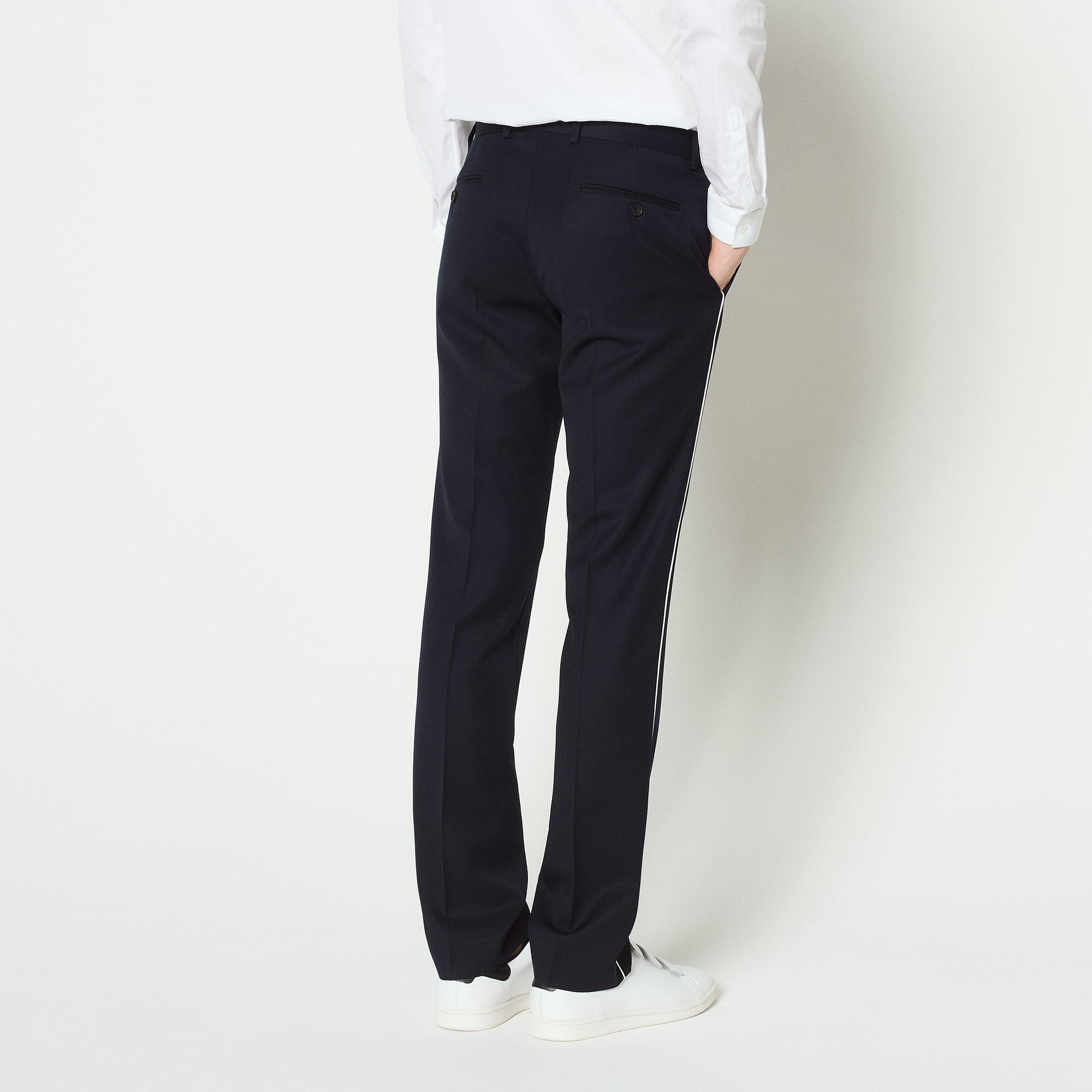Pantaloni da completo con profilo : Abiti & Smoking colore Blu Marino