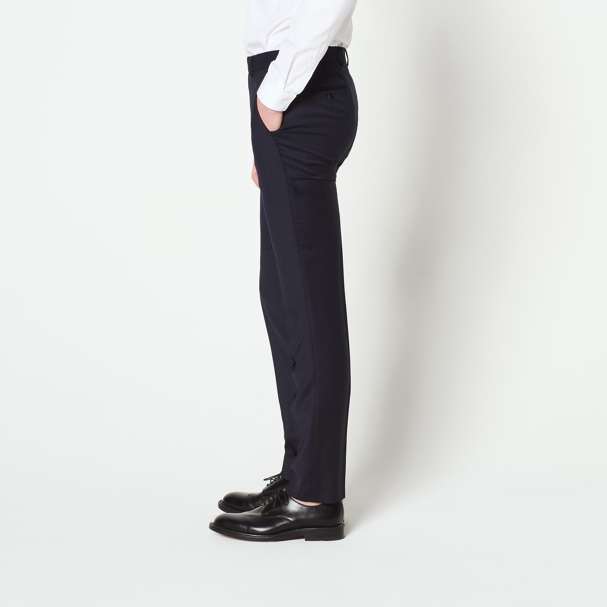 Pantaloni da smoking in tessuto jacquard : Abiti & Smoking colore Blu Marino