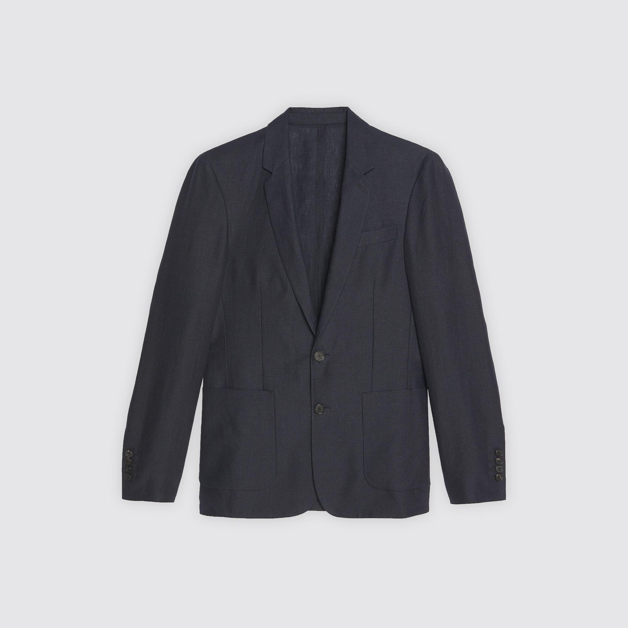 Giacca da completo in lino : Abiti & Smoking colore Blu Marino