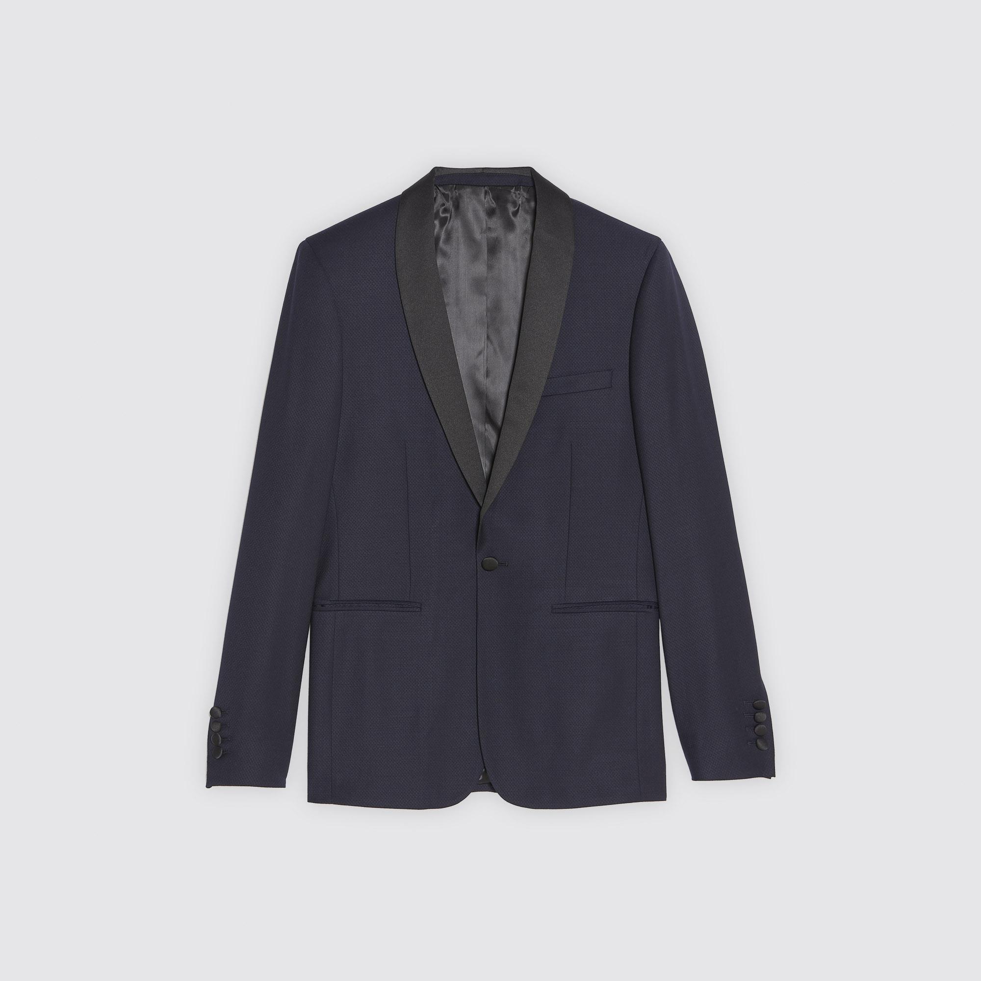 Giacca da smoking in tessuto jacquard : Abiti & Smoking colore Blu Marino