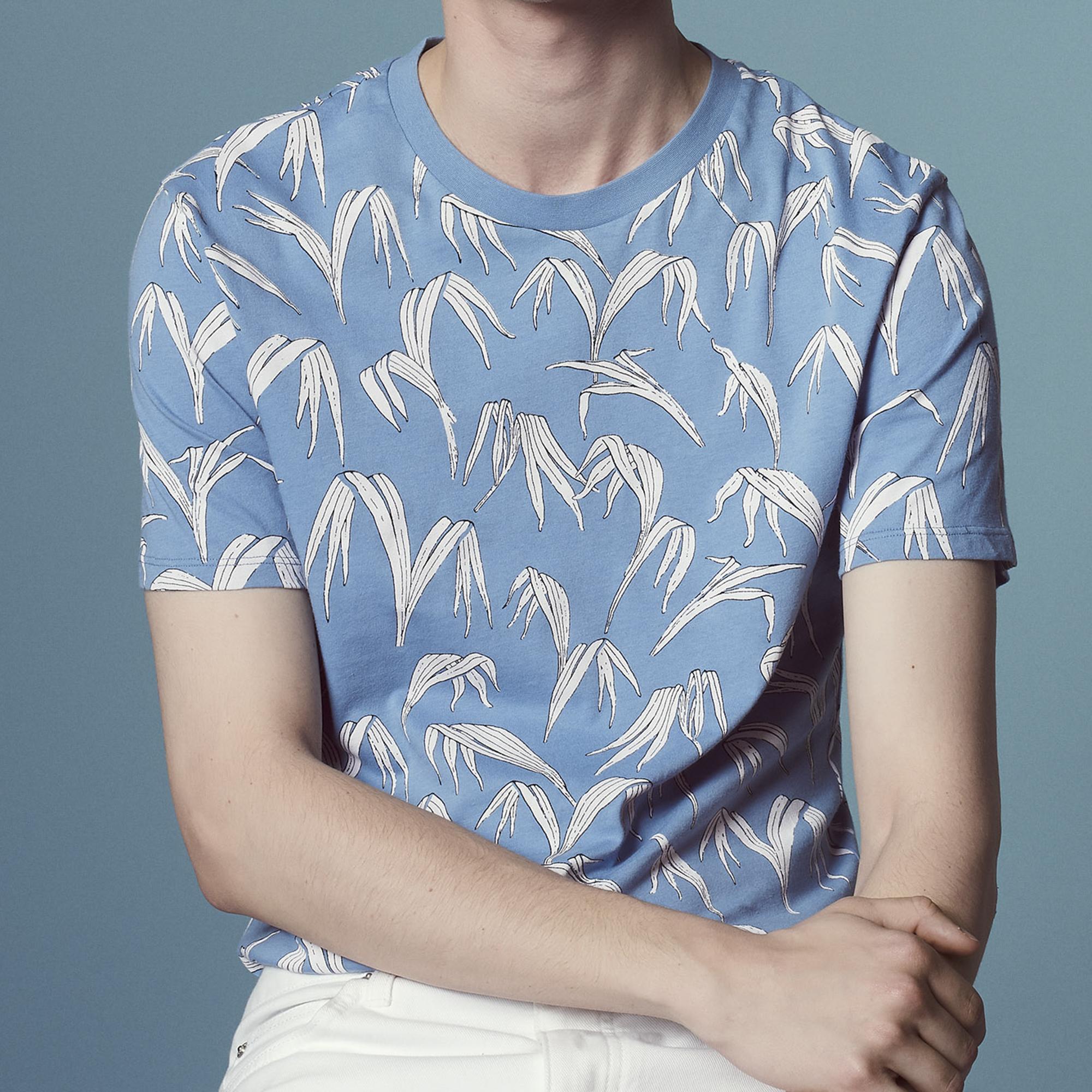 T-shirt con stampa a palme : Magliette & Polo colore Sky Blue