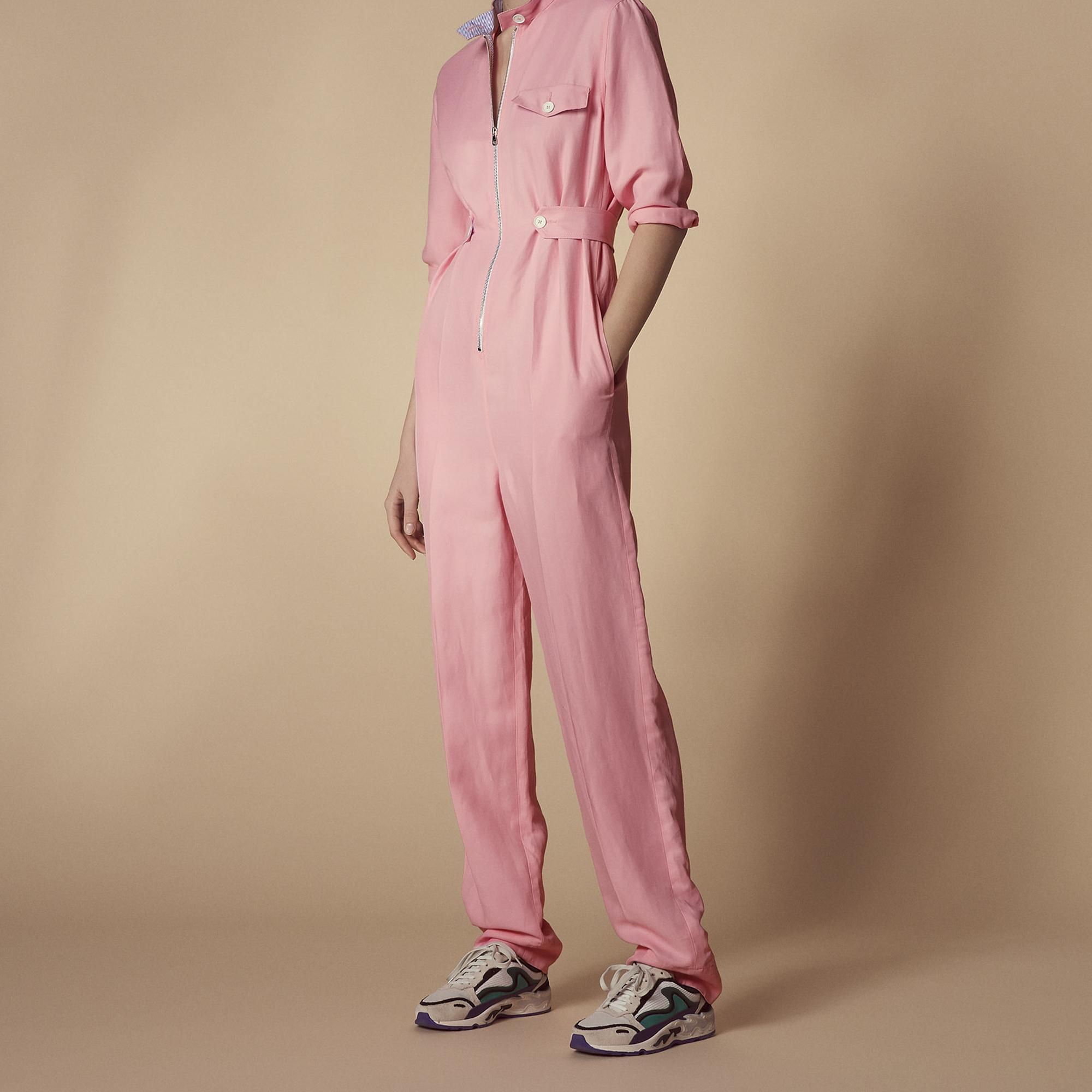 Tuta pantalone rosa : Pantaloni colore Rosa Chiaro