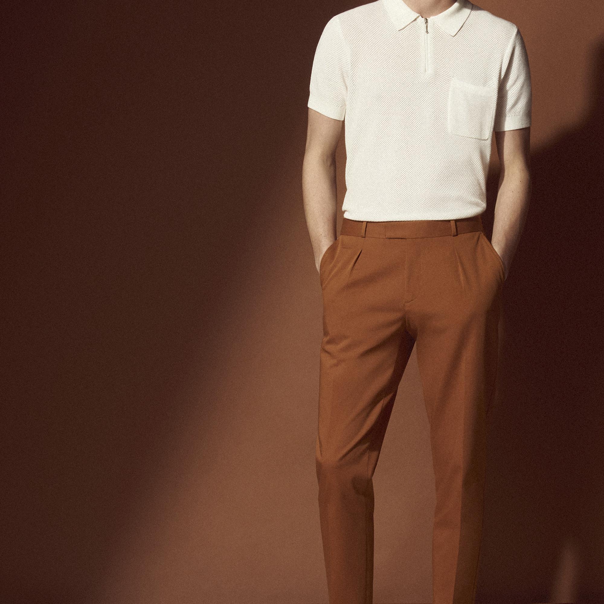 Pantaloni con la piega : Sandro x Mr Porter colore Ocra