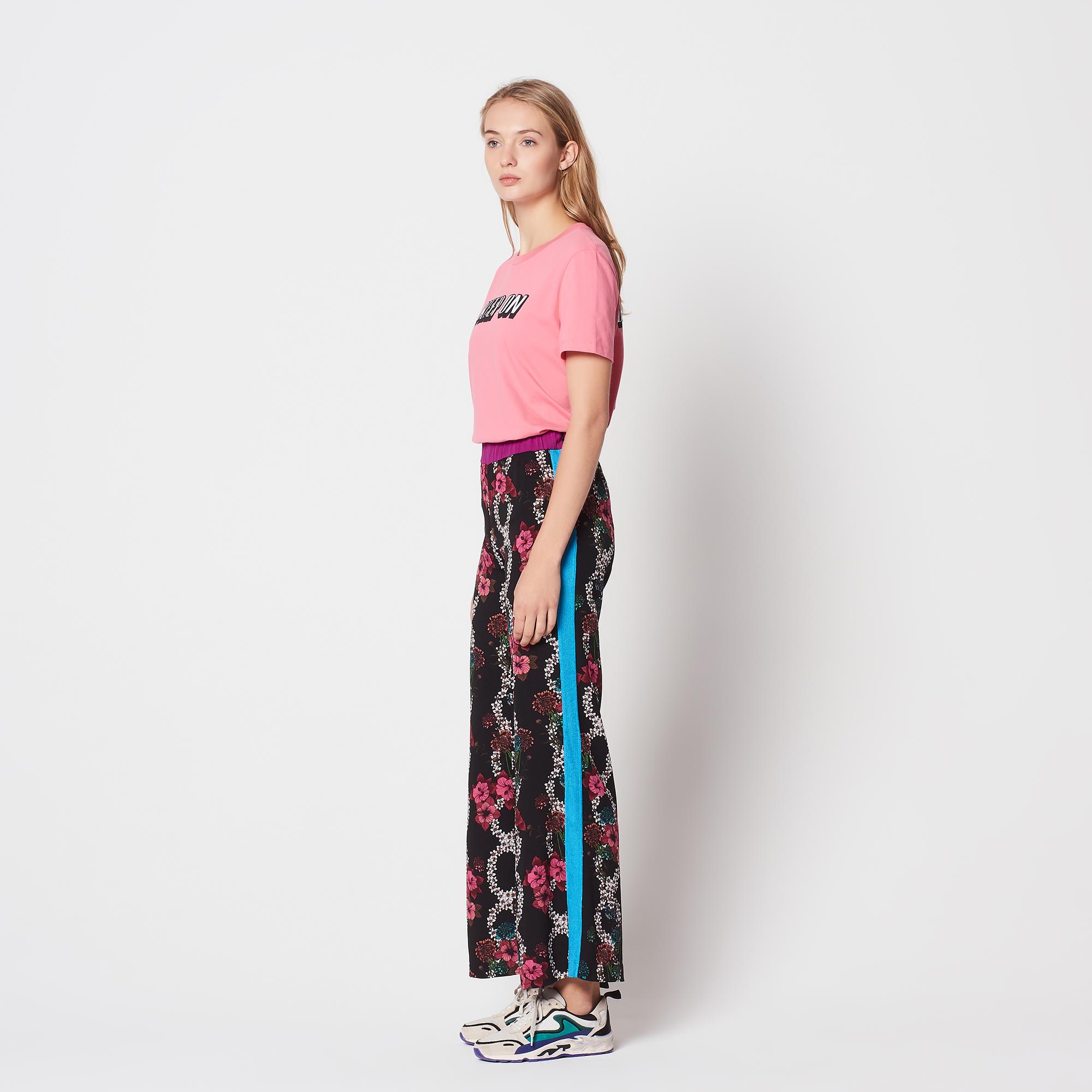 Pantaloni fluidi con stampa floreale : Pantaloni colore Multicolore