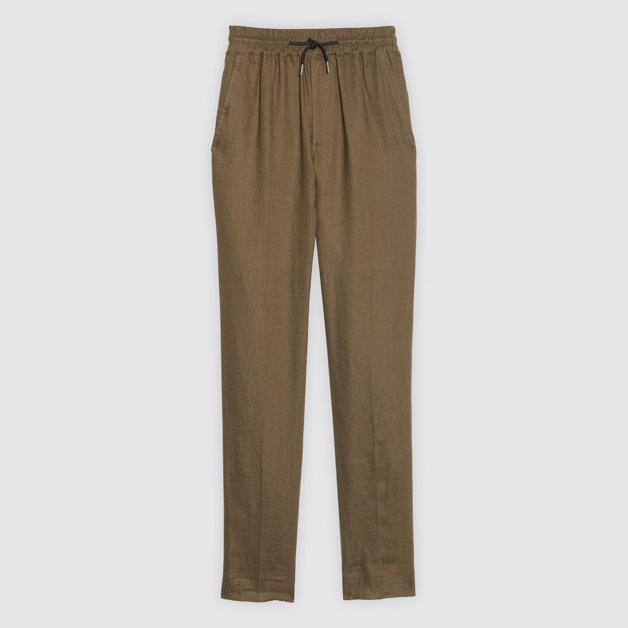 PANTALONI DA CITTÀ IN LINO : Pantaloni & Short colore Cachi