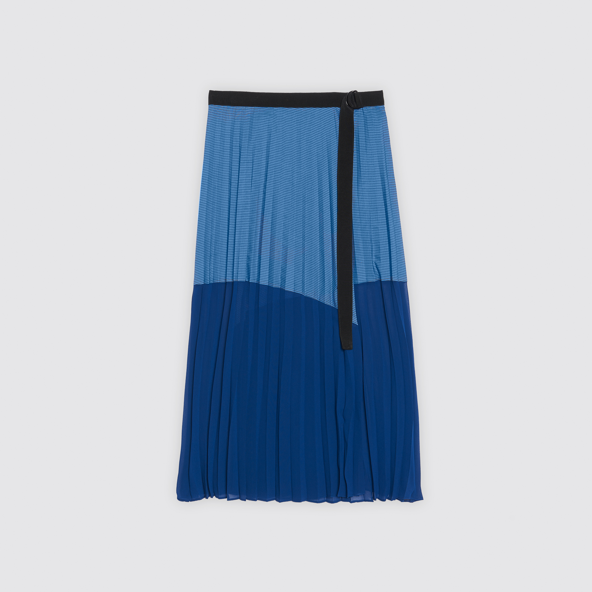 Gonna longuette plissettata bicolore : Gonne & Short colore Blu