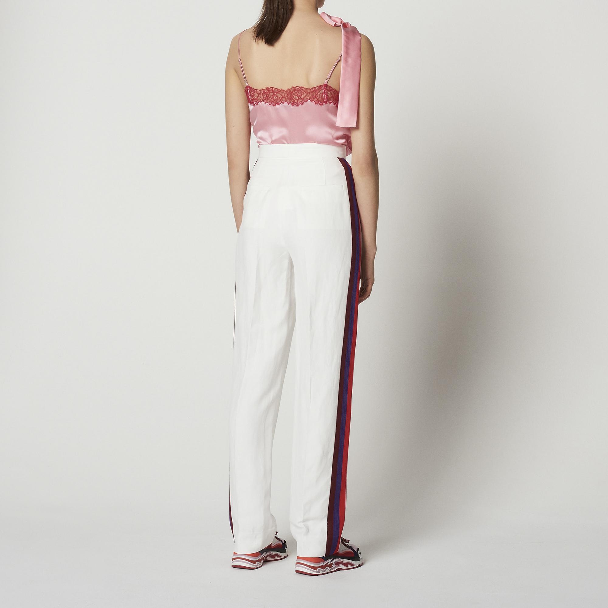 Pantaloni con decorazioni laterali : Collezione Estiva colore Bianco