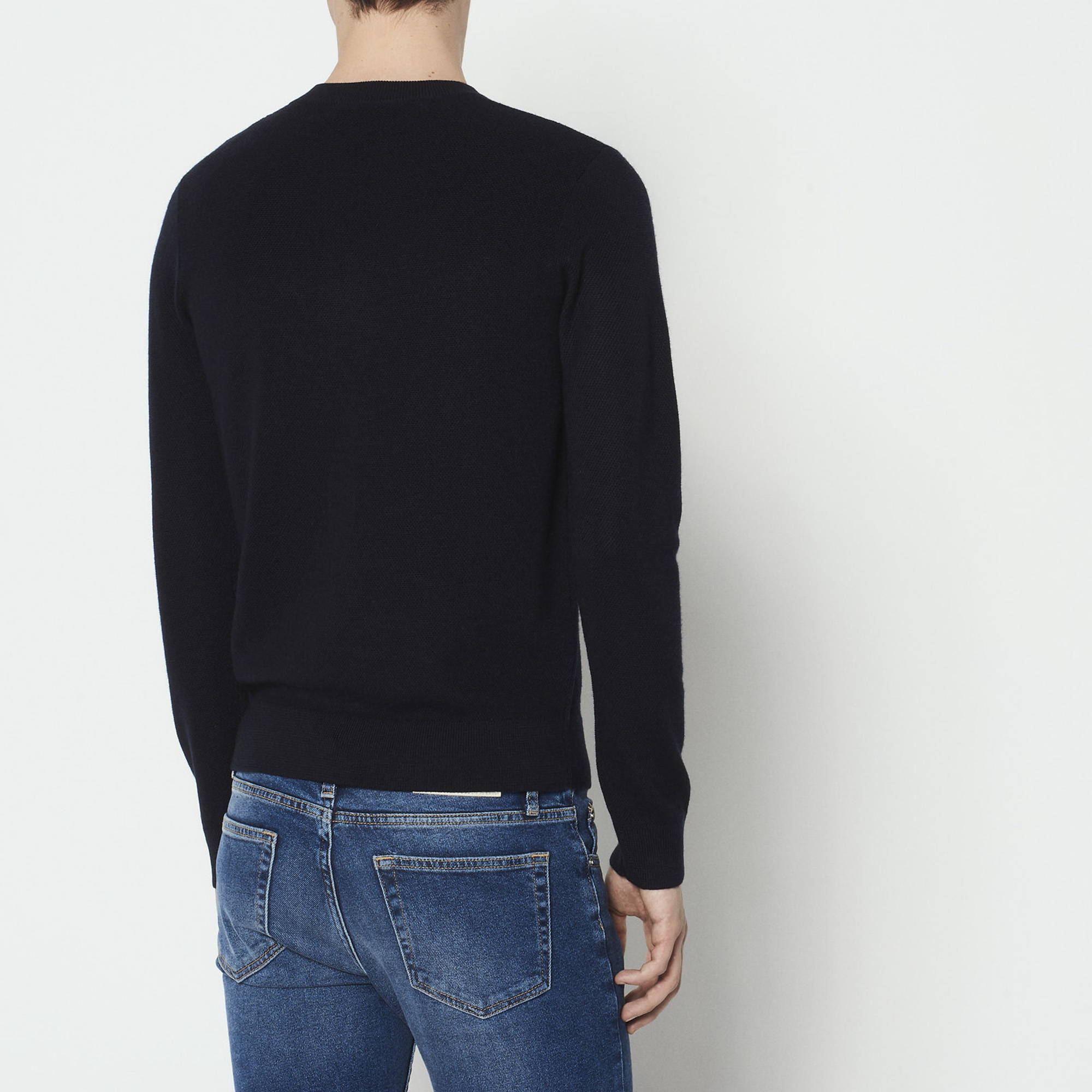 Pullover girocollo con zip : Collezione Estiva colore Blu Marino