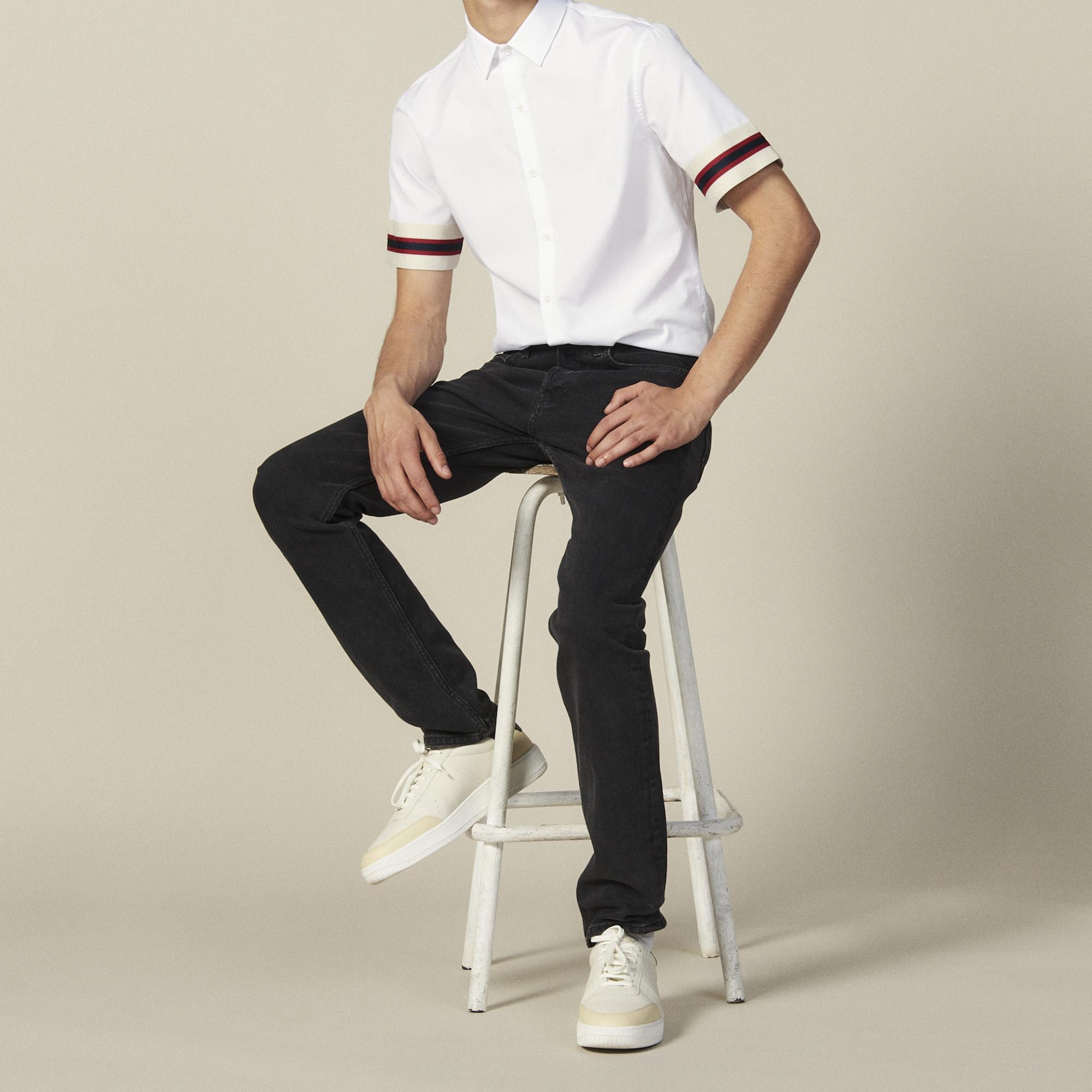 Camicia a maniche corte con decorazioni : Collezione Estiva colore Bianco