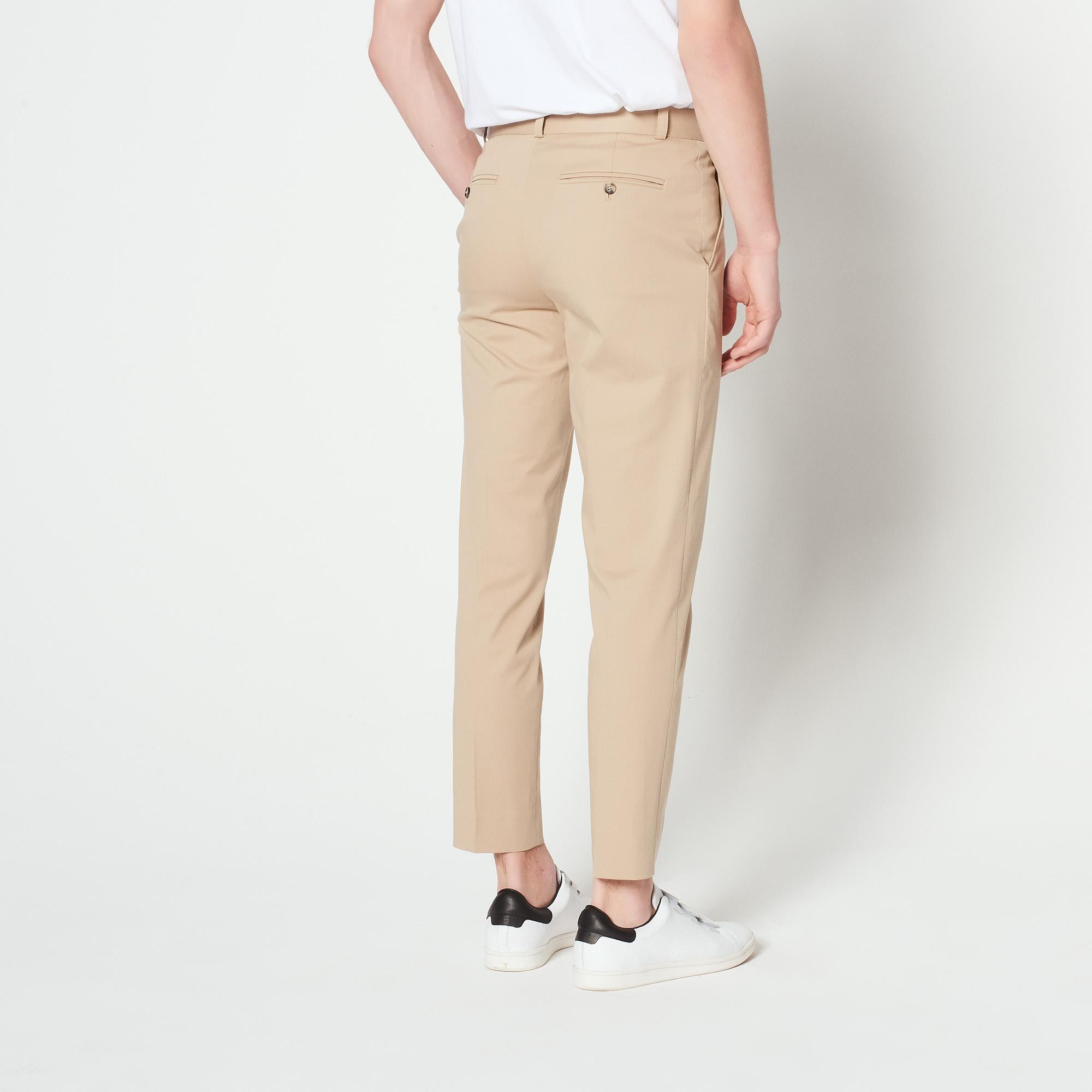 Pantaloni carrot in cotone : Pantaloni & Short colore Beige