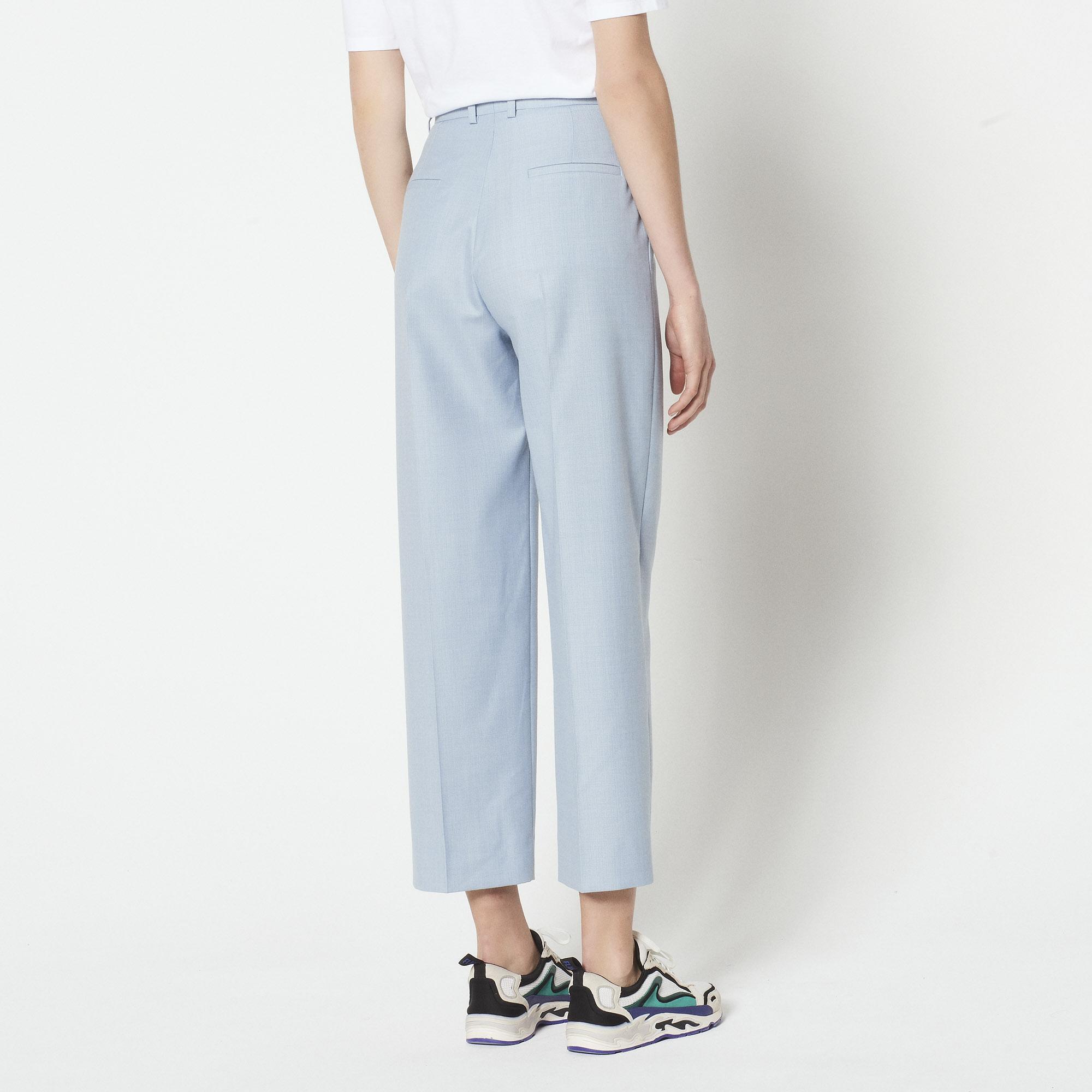Pantaloni da tailleur 7/8 : Pantaloni colore Sky Blue