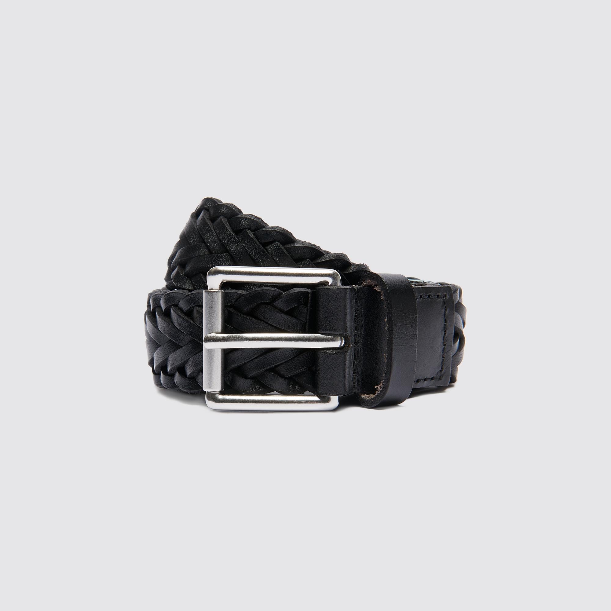 Cintura in pelle intrecciata : Cinture colore Nero