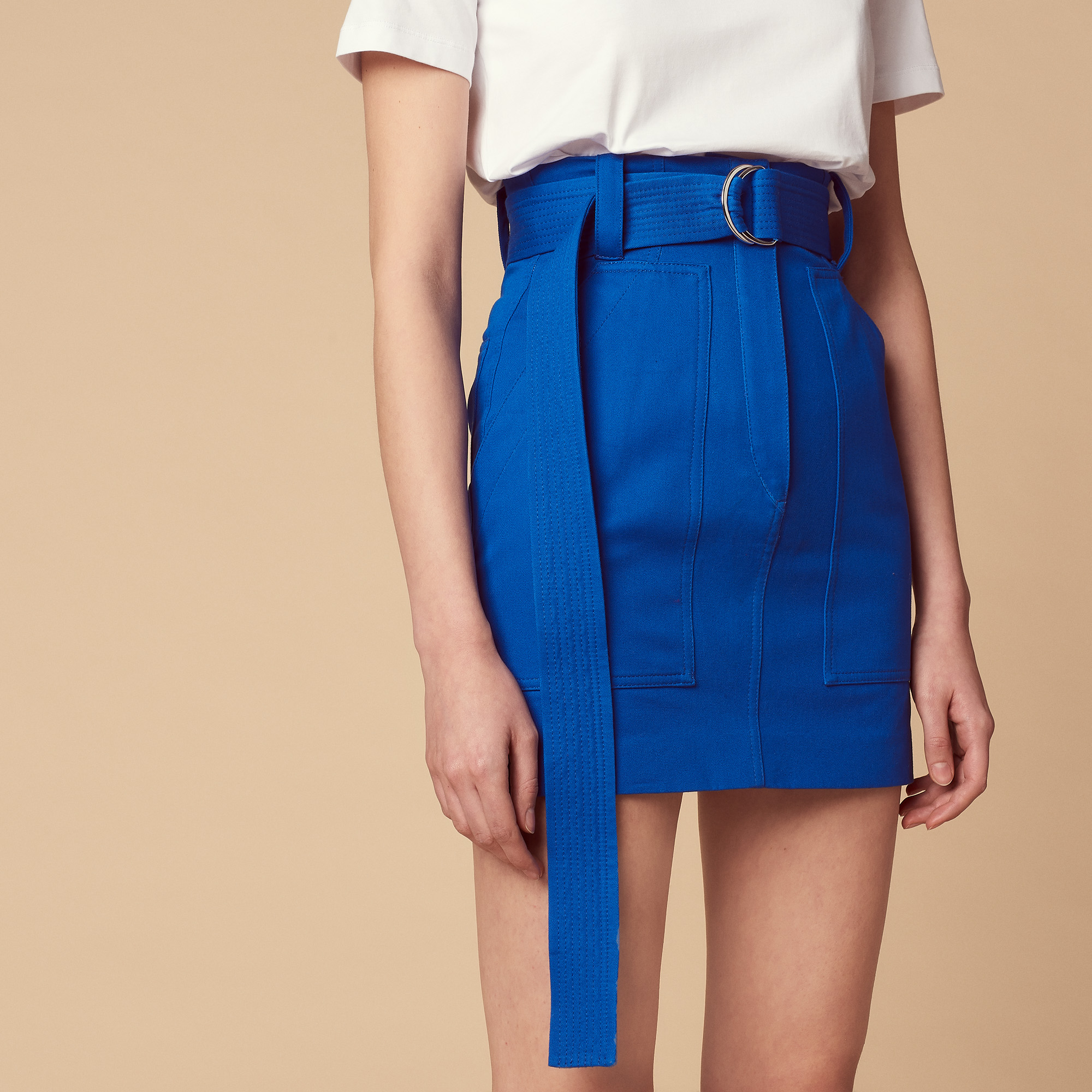 Gonna corta con cintura : Gonne & Short colore Blu