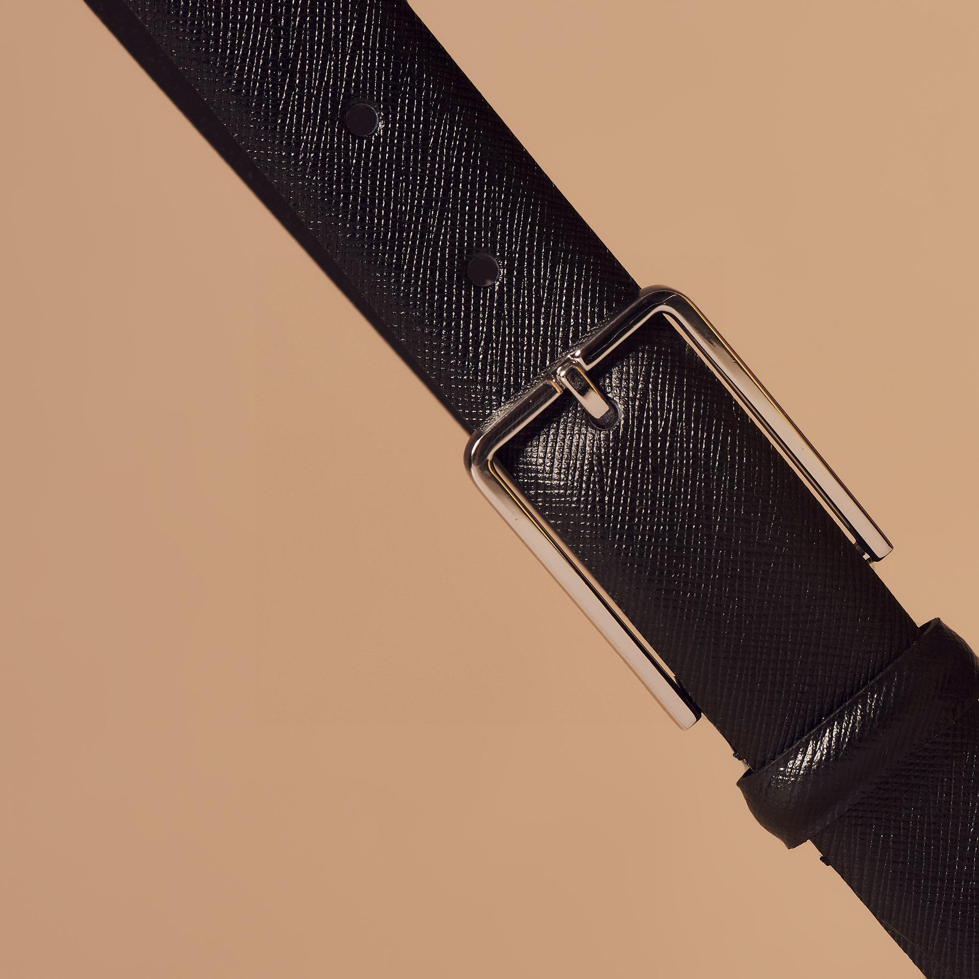 Cintura in pelle Saffiano : Collezione Estiva colore Nero
