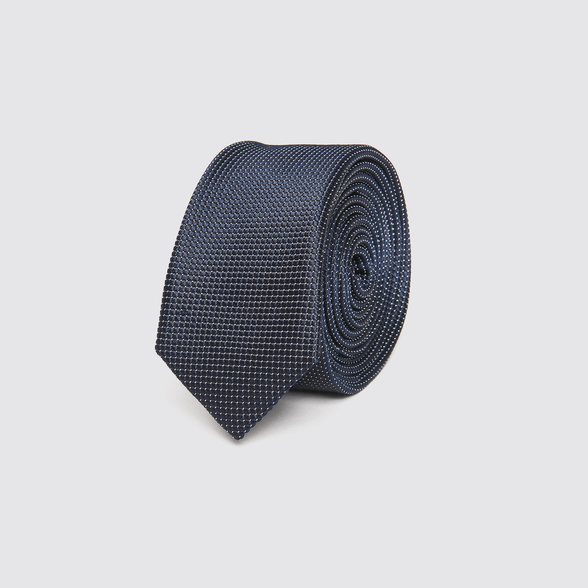 Cravatta a pois : Collezione Estiva colore Blu Marino