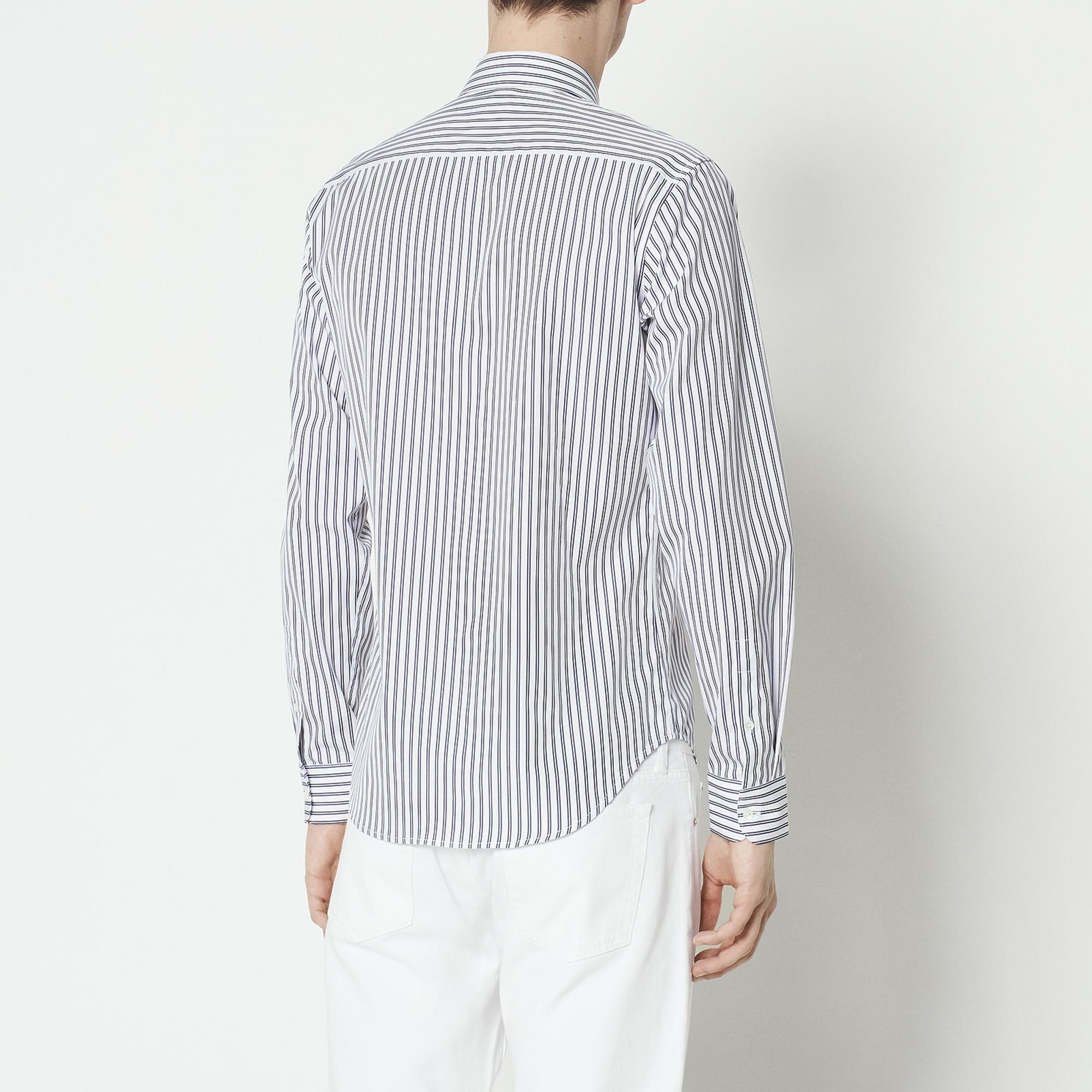 Camicia a maniche lunghe a righe : Collezione Estiva colore Bianco/Blu