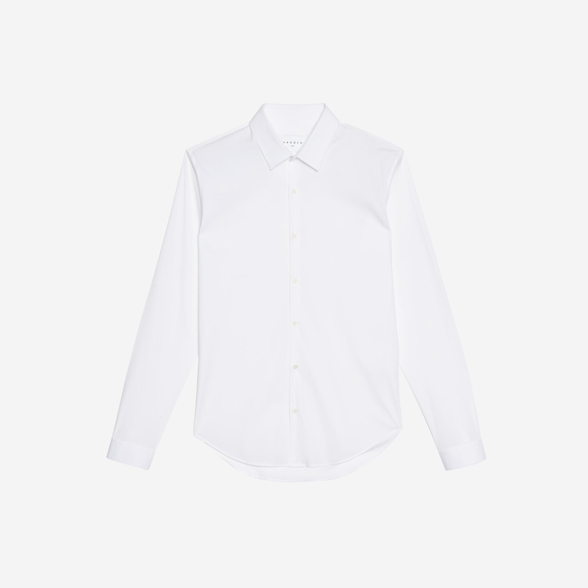 Camicia slim fit in cotone stretch : Collezione Estiva colore Bianco