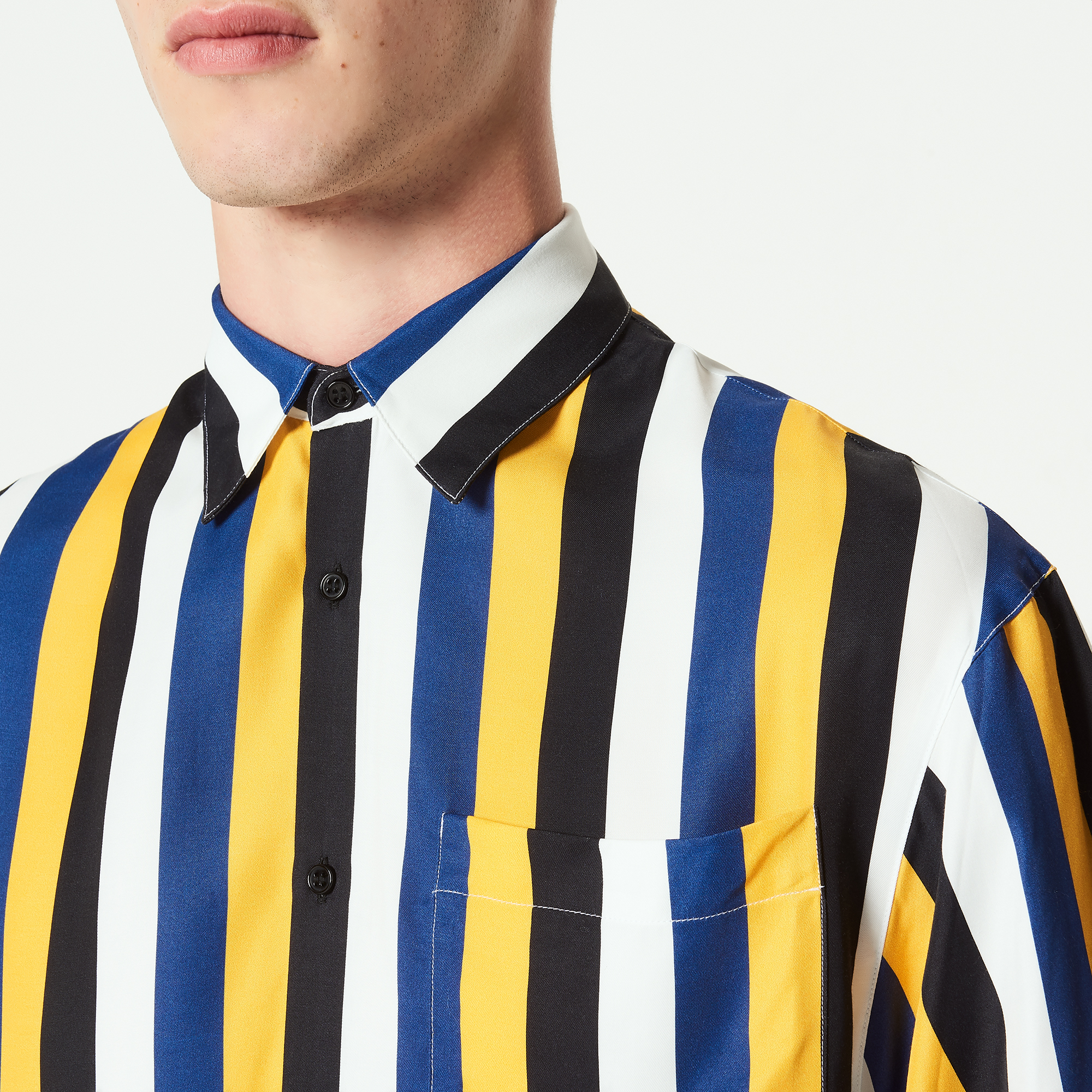 Camicia a righe di tre colori : Camicie colore Giallo
