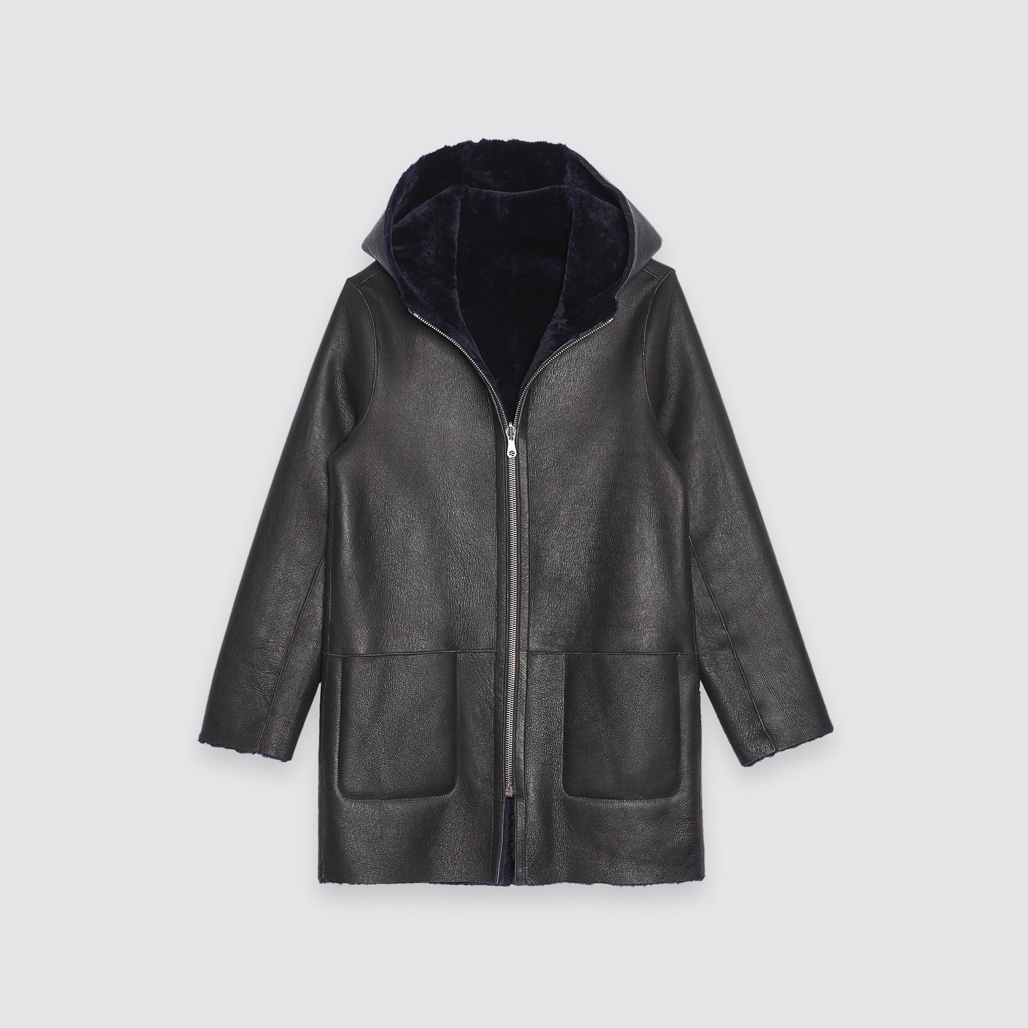Cappotto in montone con cappuccio : Collezione Inverno colore
