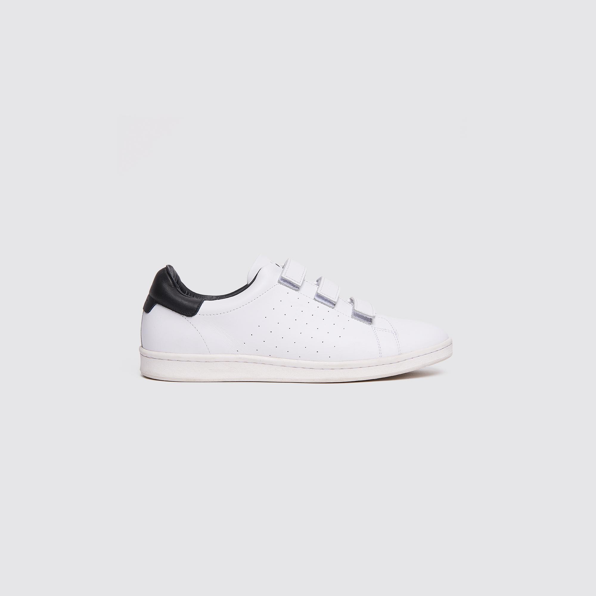 Sneaker in pelle liscia con velcro : Scarpe colore Bianco