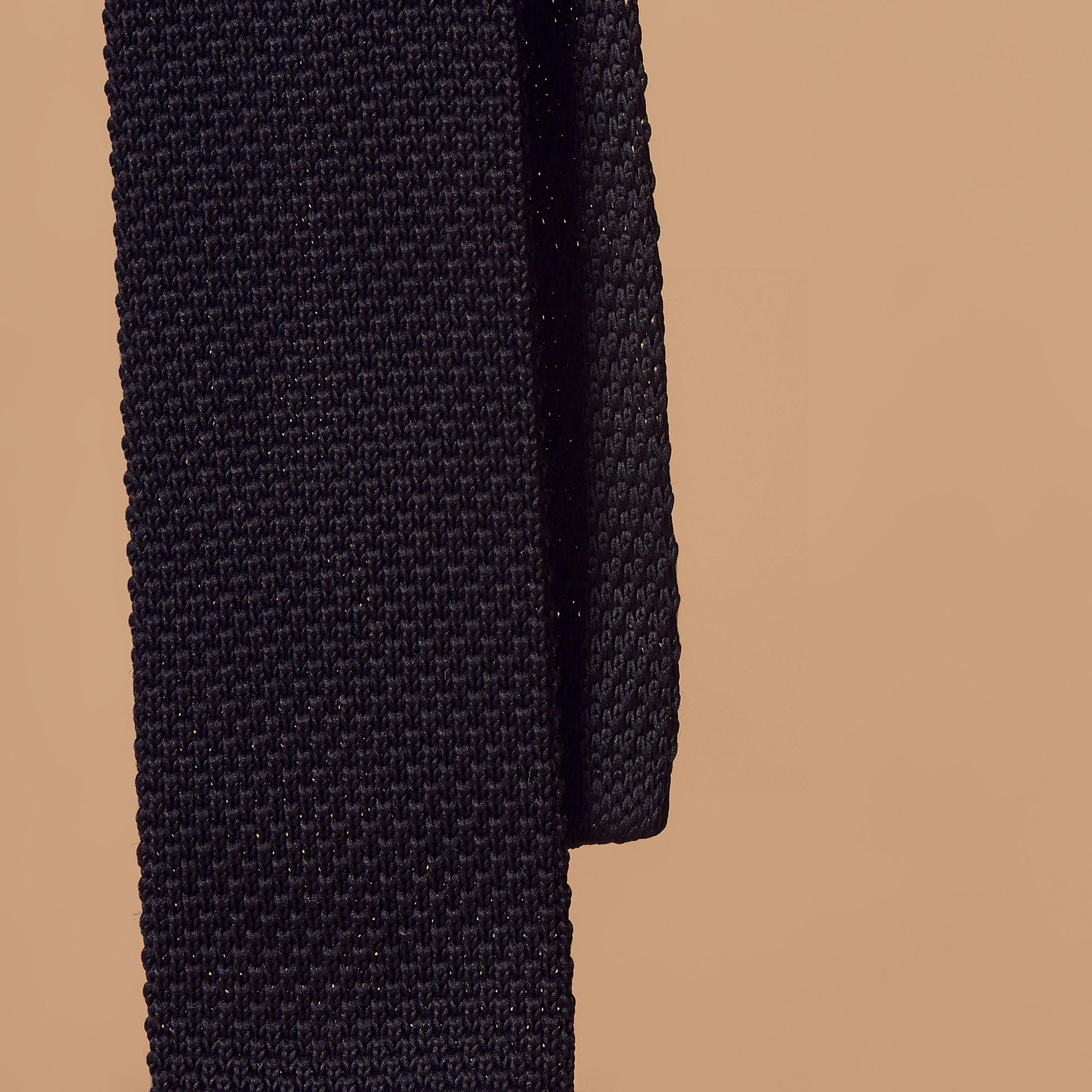Cravatta in maglia lavorata : Collezione Estiva colore Blu Marino