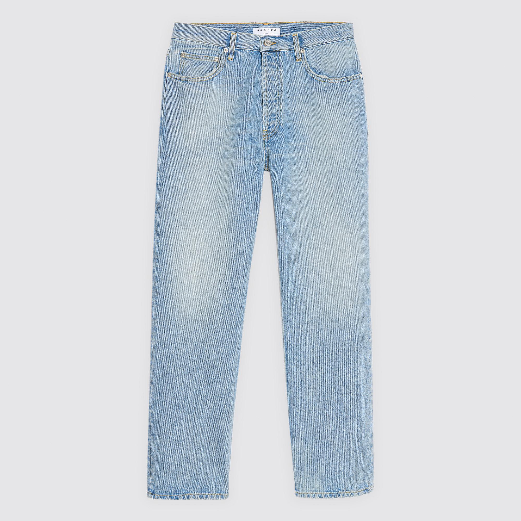 Jeans blu chiari linea dritta : Collezione Estiva colore Blu Chiaro