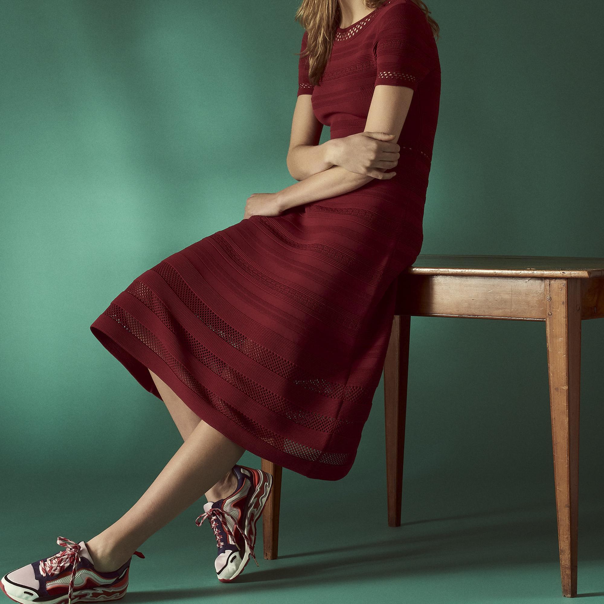 Abito longuette in maglia : Abiti colore Rouge Cuit