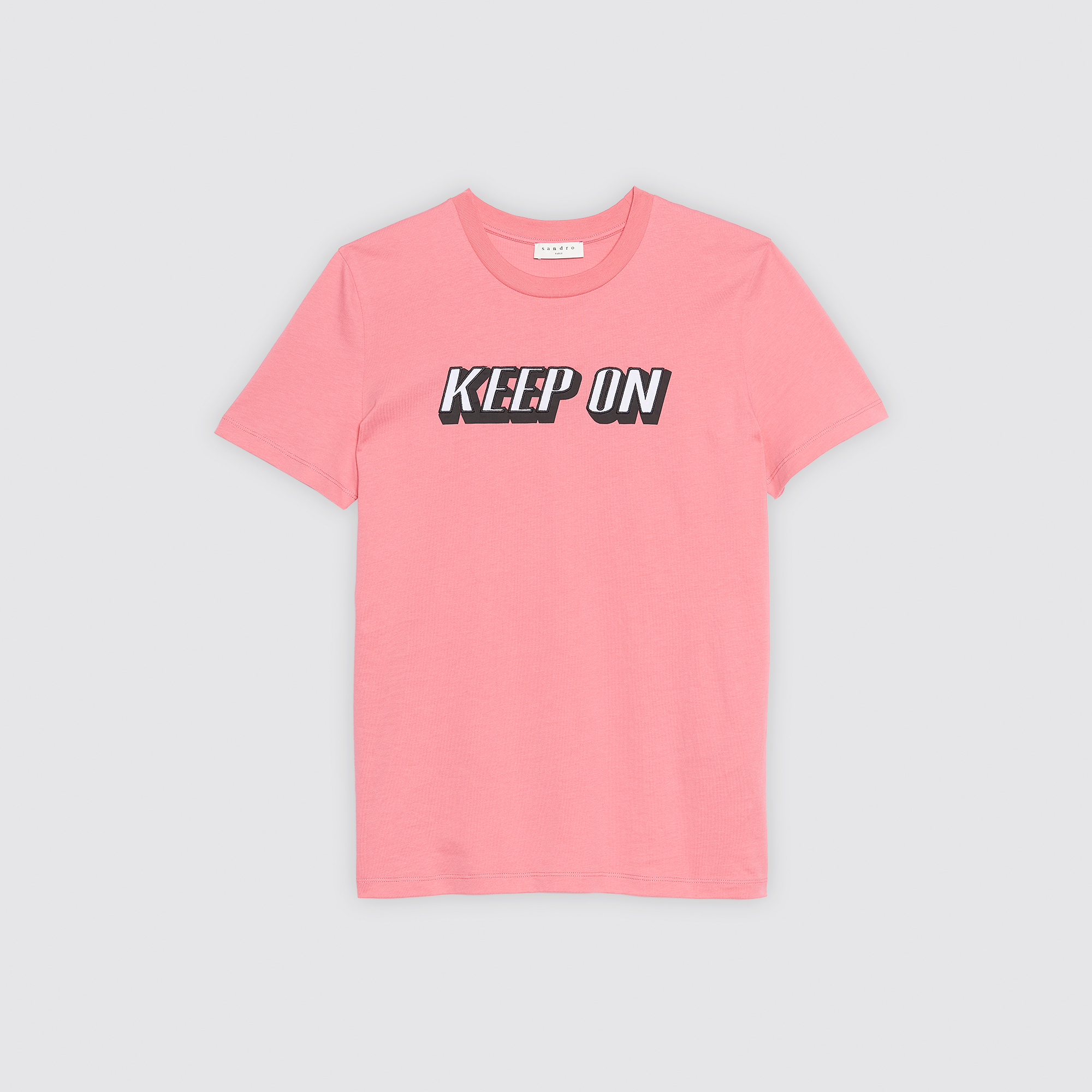 T-shirt con scritta Keep on Dancing : Magliette colore Malabar
